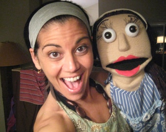 MePuppet, Personalized Puppet, Portrait Puppet, Custom Muppet, with one arm rod and fingered hands