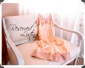 Reserved for beowee - 1930's or 40's Full Slip of Alencon Lace and Rayon in shades of Peach, Pink, and Blush