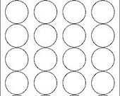 1.67 inch circle, REMOVABLE white labels, 10 sheets (240 labels)