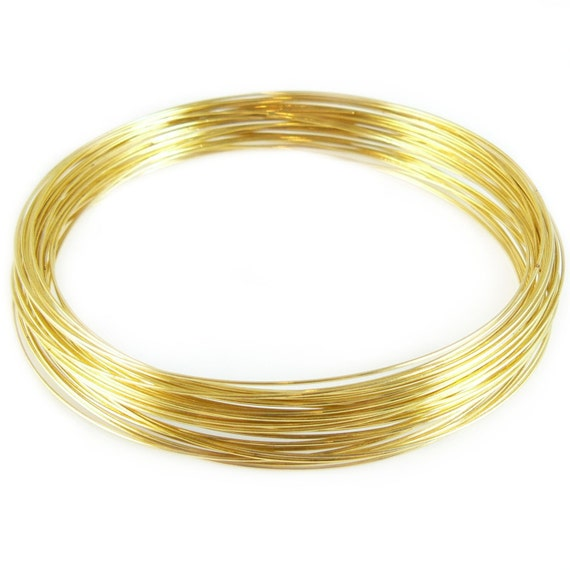 3.6 inch gold plated stainless steel necklace memory wire, 1 oz. (38 loops)
