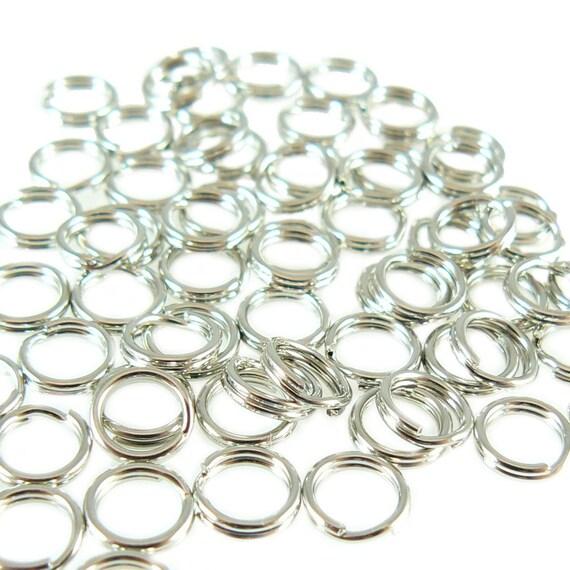 6mm nickel plated split ring/ key ring/ key chain ring, 100 pcs
