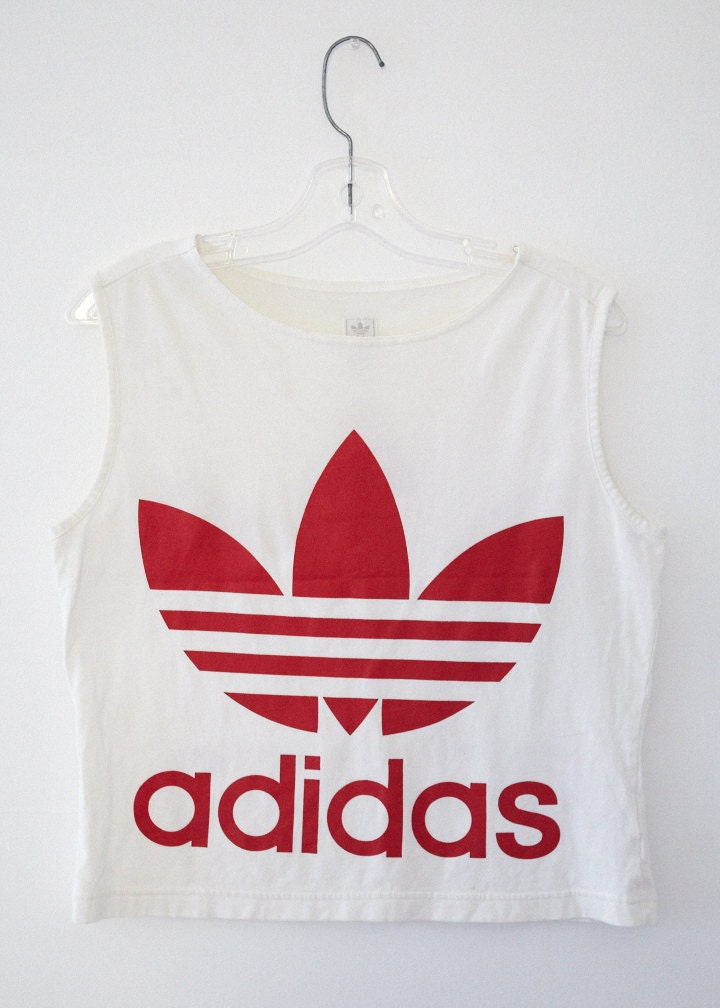 adidas vintage logo crop top. Black Bedroom Furniture Sets. Home Design Ideas