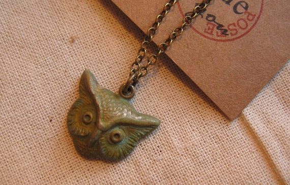 SD MSD Hoo Are You - Verdigris Necklace