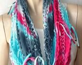 shredded braided eternity scarf