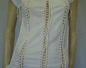 womens shredded t-shirt. medium