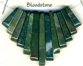Cleopatra Fan Necklace Bead Set  Bloodstone