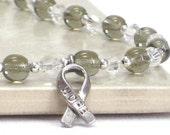 Diabetes Awareness Bracelet, JDRF, Gray Bracelet, Hope Bracelet, Grey Bracelet