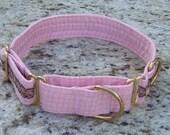 Dog Martingale Collar. Elegant Pink.