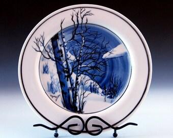 Ceramic and Pottery, porcelain serving plate collectors plate unique porcelain art
