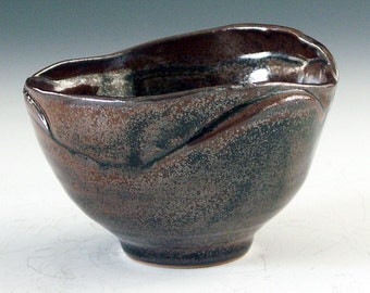 Pottery and ceramic stoneware candy bowl - great for office party gift giving