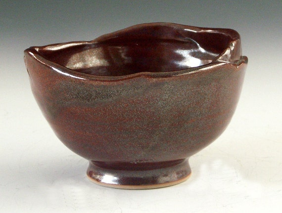 Ceramic and pottery stoneware bowl for candy - great for office party gift giving
