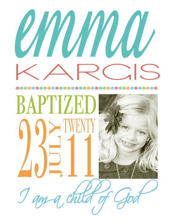 LDS Baptism Announcement, Baptism, Mormon, Primary, Latter Day Saint Baptism invitation