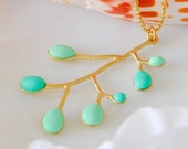 Exotic sea coral necklace . Gold filled chain
