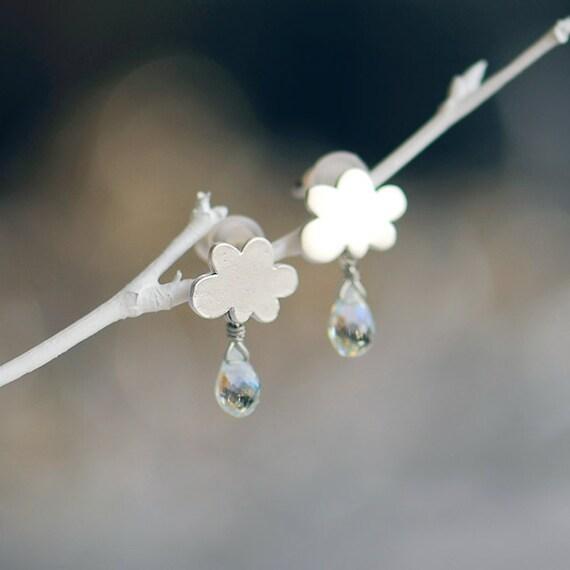 Cloud earrings, Topaz gemstone earrings, December birthstone earrings, gemstone jewelry