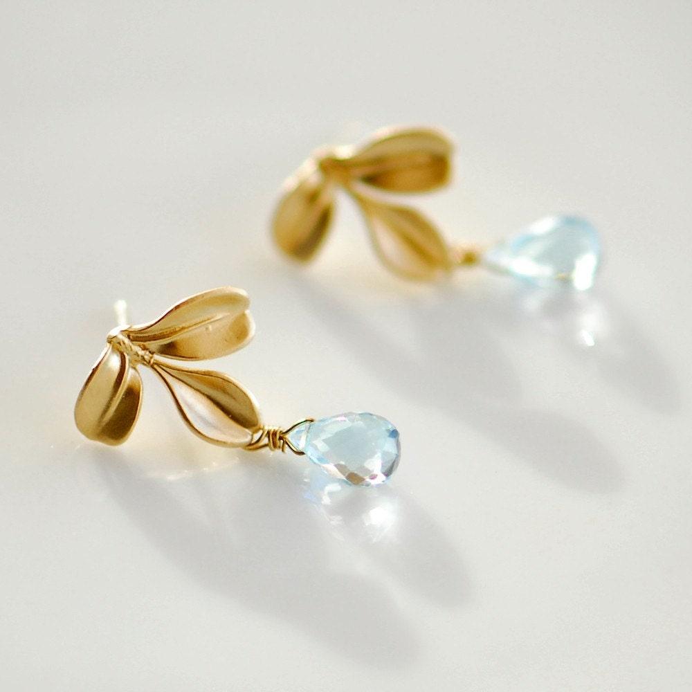 december birthstone jewelry blue topaz earrings blue by. Black Bedroom Furniture Sets. Home Design Ideas