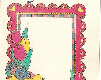Flower and Bird Frame for Summer
