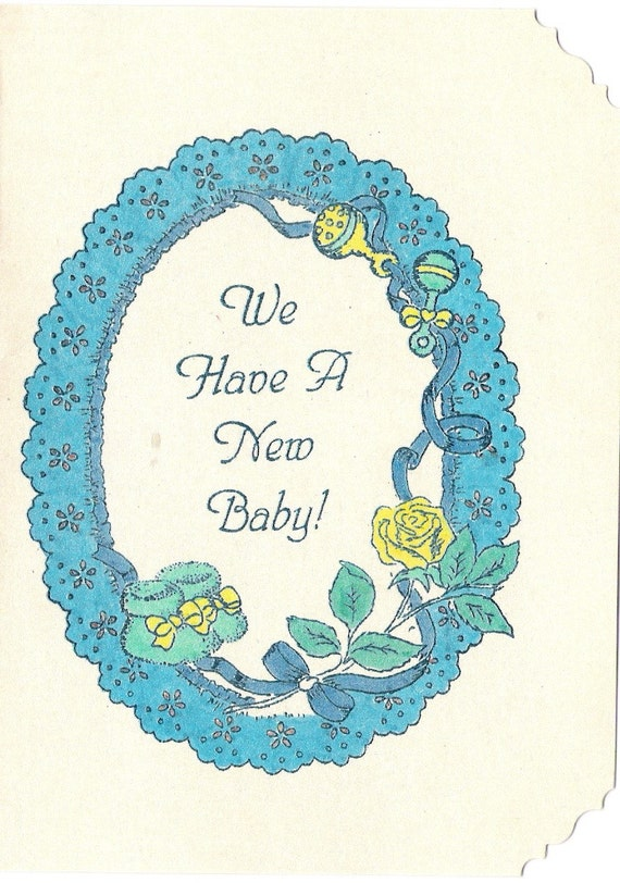 Little Boy's Baby Announcement Cards-Set of 8