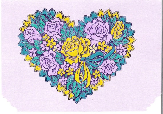 Heart filled with Roses and Flowers