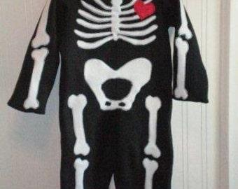 Cute Skeleton Costume 12M - 2T