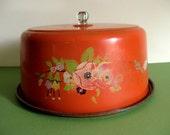 Vintage 30s cake saver tin