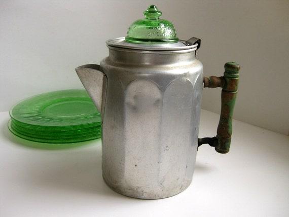 Vintage coffee pot Depression era