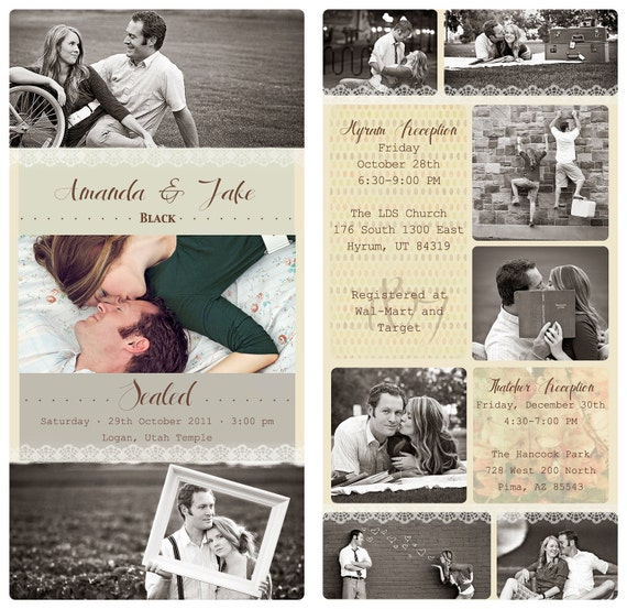 Items Similar To Vintage Photo Collage Design