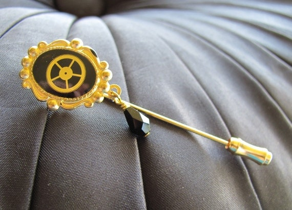 Steampunk-Neo Victorian Ascot or Lapel Pin