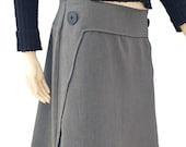 dark grey A-line skirt - elegant and classic