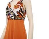 Perfect orange floral dress