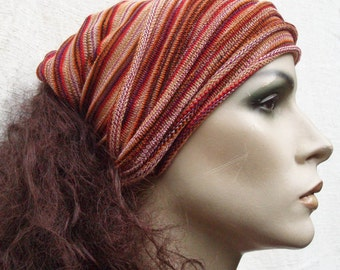 Eco Headwrap Vibrant Orange mid weight Maxi size