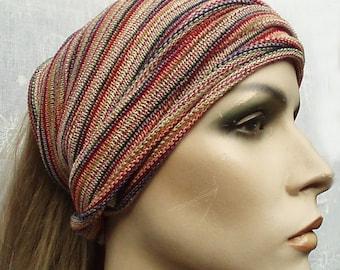 Head Wrap Turban Natural cotton Fresh Fruit stripe maxi size