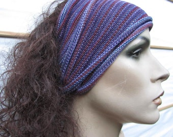 3 Eco Headwraps Berry colors hand dyed Midi size wraps