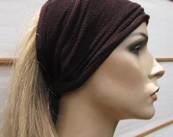 3 Headbands Headwraps in Natural Dark Earthy Botanical colors