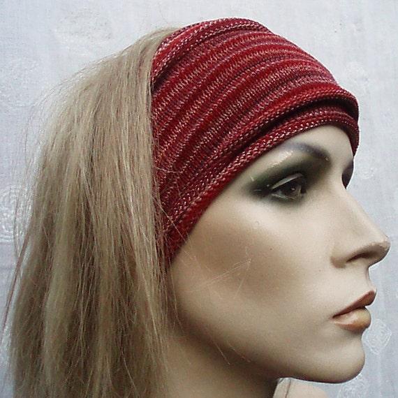 Eco Headwrap Earth colors Brown Rust Orange Red Ochre 2 Midi size wraps