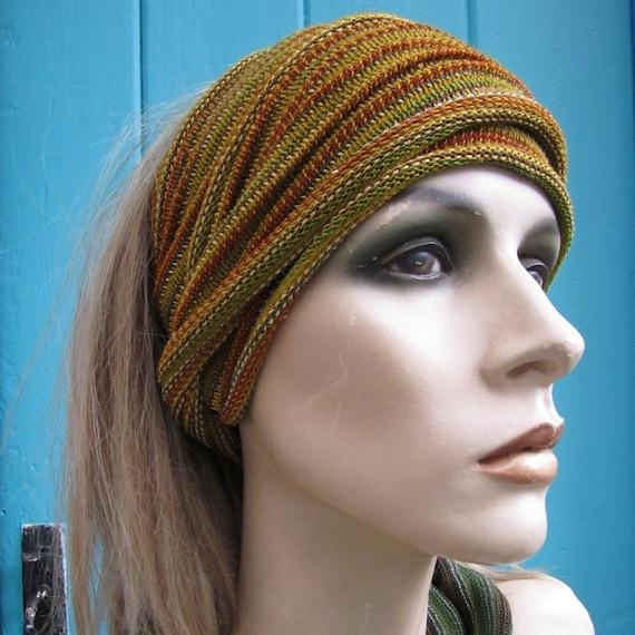 2 Eco Head Wraps Ear warmers Bamboo and Woodland Midi size