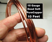 OOPS 10ft 10g Pure Dead soft Copper wire