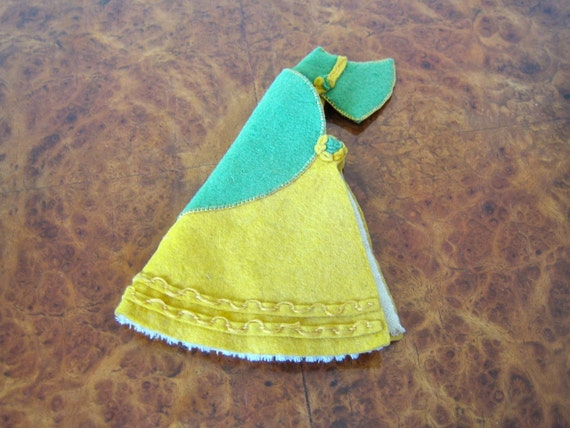 "1930s Crinoline Lady needle case / gorgeous large felt case - 7 1/2"" high"