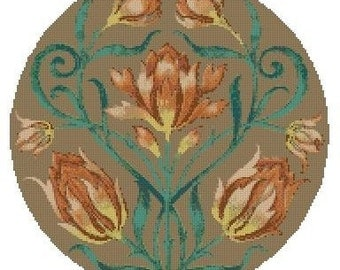 Circle of Tulips Cross Stitch Kit