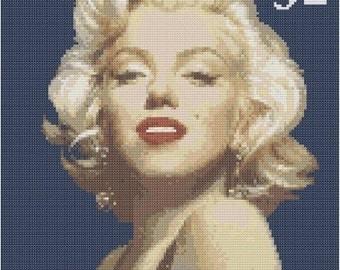 Marilyn Monroe Stamp Cross Stitch E-Pattern