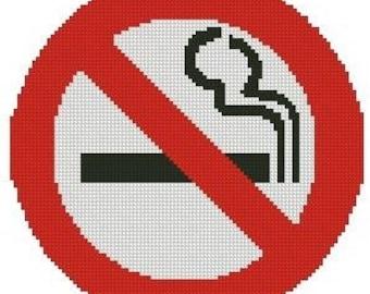 No Smoking Sign Cross Stitch E-Pattern