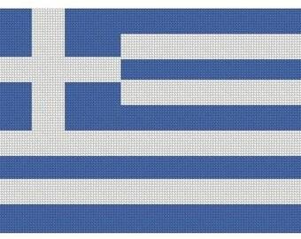 Greek Flag Cross Stitch Kit