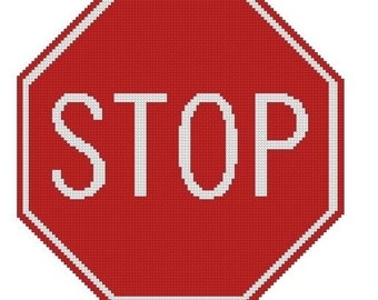 Stop Sign Cross Stitch Kit
