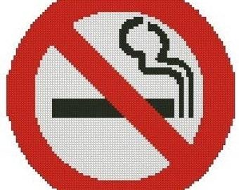 No Smoking Sign Cross Stitch Kit