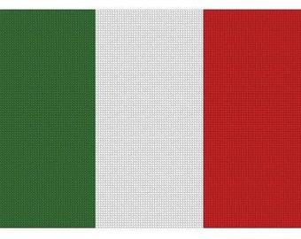 Italian Flag Cross Stitch E-Pattern