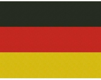 German Flag Cross Stitch Kit
