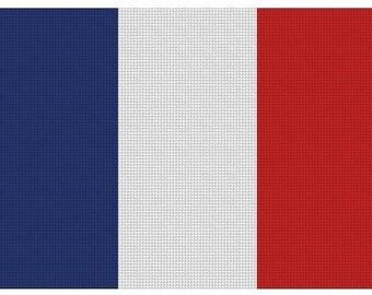 French Flag Cross Stitch Kit
