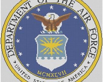 Air Force Logo Cross Stitch E-Pattern