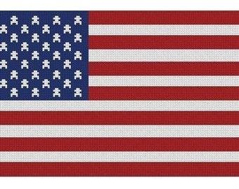 American Flag Cross Stitch Kit