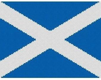 Scottish Flag Cross Stitch E-Pattern