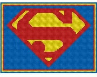Superman Logo Cross Stitch E-Pattern